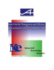 Improving the Management and Efficiency of Instructional Systems ...