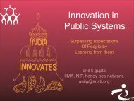 Innovation in Public Systems - Performance Management Division