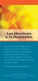 Los Hombres y la Depresión - NIMH