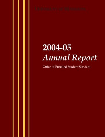 2004-05 Annual Report - One Stop Home - University of Minnesota