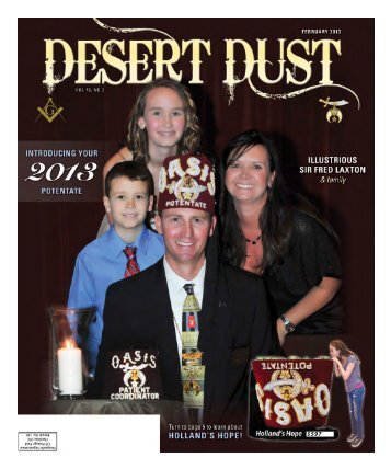 DESERT DUST February 2013 PAGE 1 597 - The Oasis Shriners