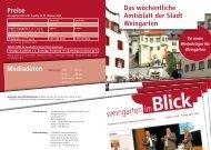 Das wöchentliche Amtsblatt der Stadt Weingarten Preise Mediadaten
