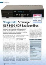Vorgestellt: Schwaiger DSR 8000 HDR Sat-Soundbox
