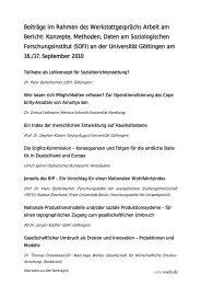 Beiträge im Rahmen des Werkstattgesprächs Arbeit am ... - soeb.de