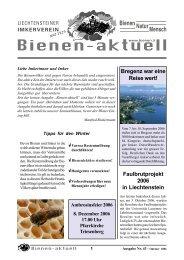 bienen-aktuell Nr. 43.pmd - Liechtensteiner Imkerverein