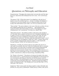 Rand on philosophy and education - Stephen Hicks, Ph.D.