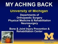 back pain surgery or no surgery - UM Bone & Joint Injury Prevention ...