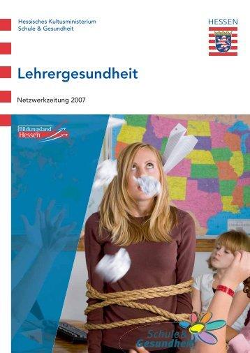 Lehrergesundheit - Schule & Gesundheit - Hessen