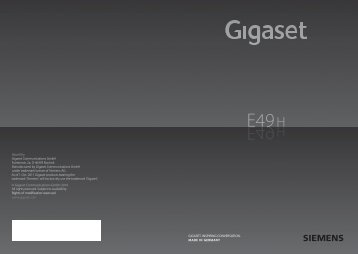 Gigaset E49H User Guide (pdf) - VoIP Talk