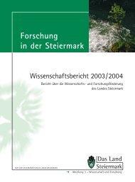 Wissenschaftsbericht - Land Steiermark