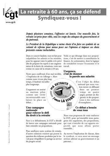 Retraite Syndicalisa.. - Fédération CGT des transports - La cgt