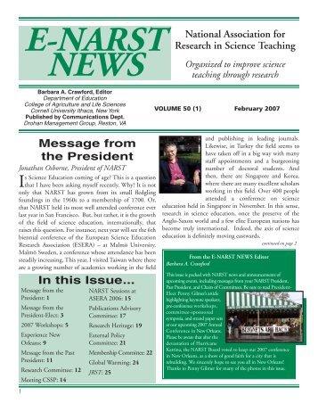 New Orleans NARST CONFERENCE - National Association for ...
