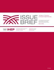 Download - Institute for Higher Education Policy