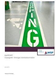 Citylogistik i Sveriges storstadsområden - Trafikanalys