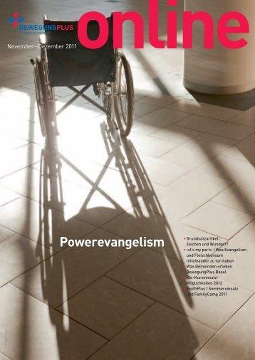 November - Dezember: Powerevangelismus - BewegungPlus