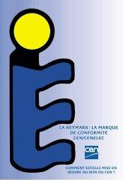 LA KEYMARK : LA MARQUE DE CONFORMITÉ CEN/CENELEC LA ...