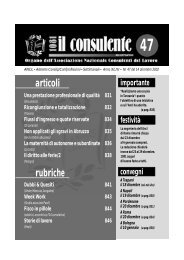 N. 47 del 14 dicembre 2002 842 il consulente 1081 - Ancl