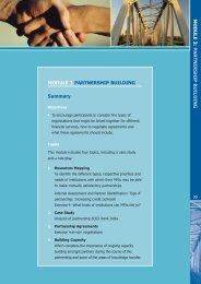 MODULE 3 PARTNERSHIP BUILDING Summary
