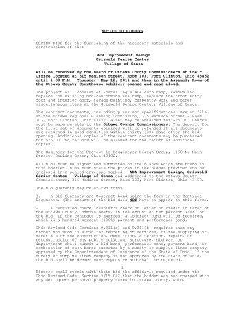 Legal Notice - Ottawa County