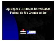 Aplicações CBERS na Universidade Federal do Rio ... - INPE-DGI