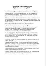 Bericht Faustballabteilung - TV Jahn Schweinfurt