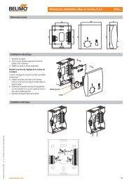 Dimensions, Installation, Mise en service, S.A.V. CR24-.. 1 2 3 - Belimo