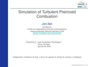 Low Mach Number Simulation of Turbulent Premixed Combustion