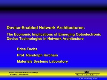 Device-Enabled Network Architectures: