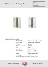 D & E Architectural - F R Scott Ltd