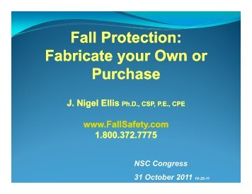 Fall Protection - Ellis Fall Safety Solutions