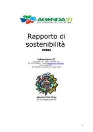 Rapporto di sostenibilità - Agenda 21 Est Ticino