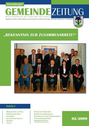 Gemeindezeitung 2/2009 - Geretsberg