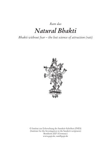Natural Bhakti - Gopi.de