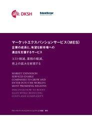 マーケットエクスパンションサービス(MES) - Second Global Market ...