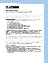 Women's preventive care enhancements - Anthem Health Care ...