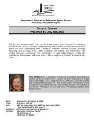 Socratic Seminar - Eastern Suffolk BOCES