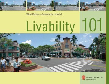 Livability 101 - American Institute of Architects