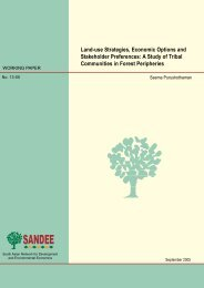 Land-use Strategies, Economic Options and Stakeholder Preferences
