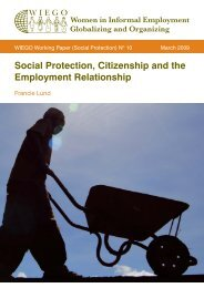 Social Protection, Citizenship and the Employment ... - WIEGO