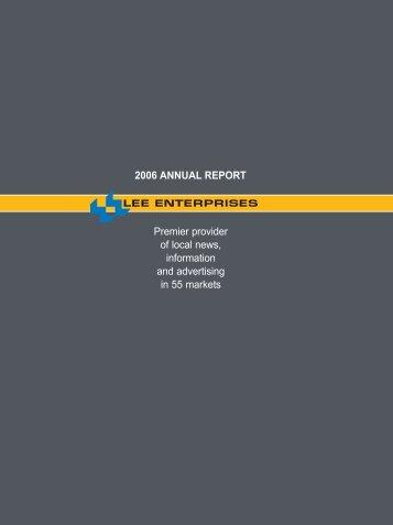 2006 ANNUAL REPORT Premier provider of local ... - Lee Enterprises