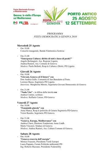 Scarica il programma - sistema turistico locale del genovesato