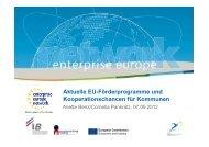 Aktuelle EU-Förderprogramme und Kooperationschancen für ...