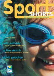 Sportshorts magazine - NSW Sport and Recreation