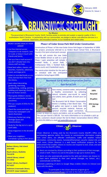 2009 Spring Newsletter Draft - Brunswick County Government