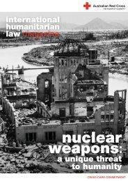 nuclear weapons - Australian Red Cross