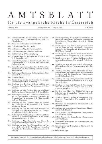 Juli/August 2007 - Das Evangelische Zentrum