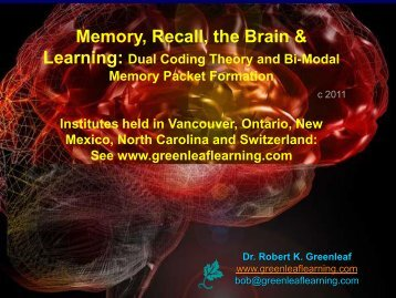 Memory, Recall, the Brain, and Learning - WhippleHill