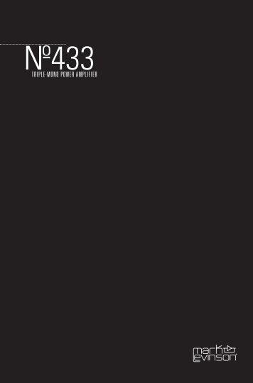 No433 Brochure - Mark Levinson