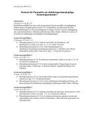 Schema för Perspektiv på utbildningsvetenskapliga ...