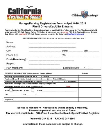CLASS registration Form rev. 8/1/12 - Curiosity Zone